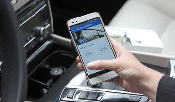 App, Unfallmelder, smartphone, foto, unfall, schadenmeldung