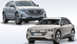 Audi E-tron 2019 und Mercedes EQC 2020