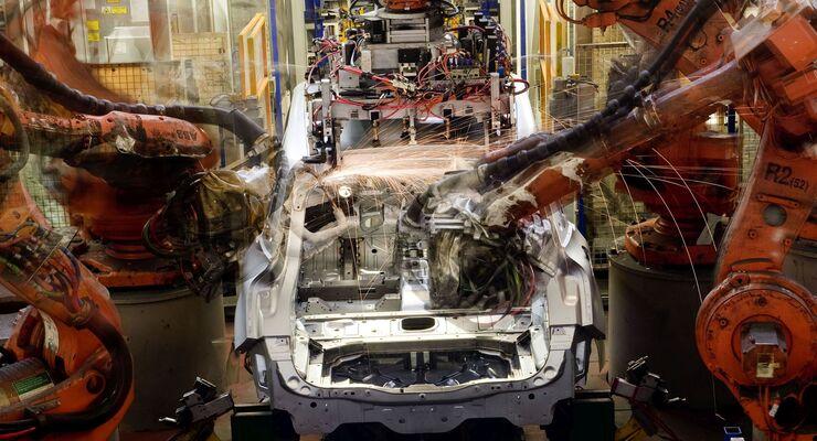 Autobau Citroen C4 Picasso, Autoproduktion