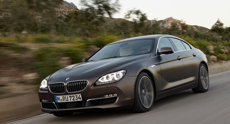 Das BMW 6er Gran Coupé von vorne
