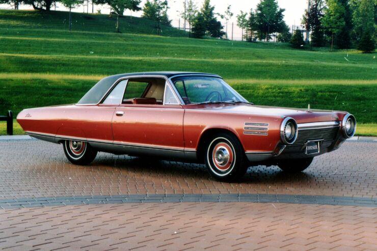 Das Chrysler Turbine Car Coupé war Ausdruck einer technikgläubigen Zeit, ging aber aus Kostengründen nie in Serie.