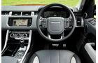 Das Cockpit des Range Rover Sport