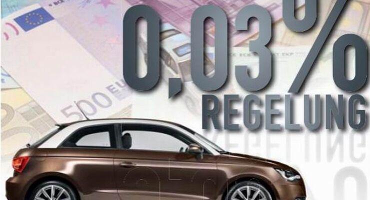 Dienstwagenbesteuerung, 0,03-Prozent-Regelung, Ein-Prozent-Regelung