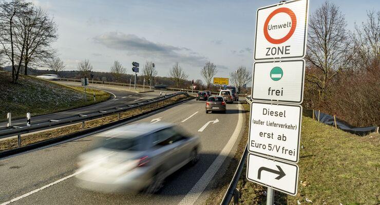 Diesel, Fahrverbot, Schild, Euro 4, Stuttgart, Feinstaub, Stickoxid