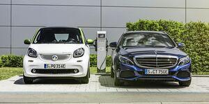Elektromobil zur Arbeit: Daimler baut Ladenetz an Standorten in Deutschland aus.  Electromobility for the workplace: Daimler is expanding the charging network at its German locations