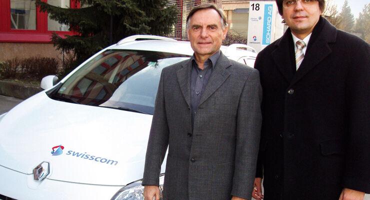 Hans A. Ulrich von Swisscom (links) und Hans-Joachim Guth von Carano Software.
