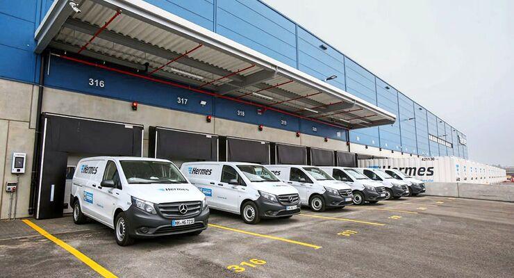 Hermes Logistik-Center-Eröffnung + Fahrzeugübergabe E-Transporter