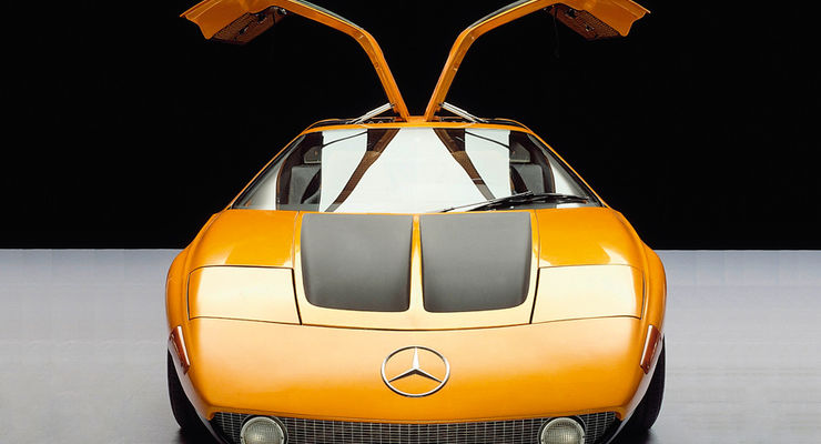 Historie Alternative Antriebe, Futuristisch: Mercedes C111 von 1970, Wankelmotor