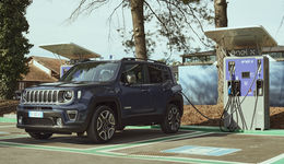 Jeep Renegade, Plug-in Hybrid, laden, Ladesäule