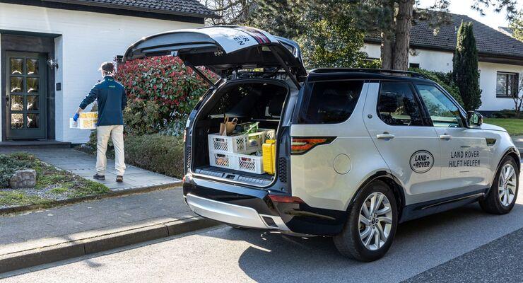 Land Rover, Corona, Lieferdienst, einkaufen