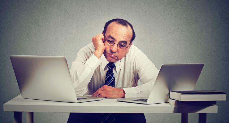 Langeweile, Büro, Büroschlaf, Schreibtisch, Computer