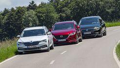 Mazda 6 Kombi, Skoda Superb Combi, VW Passat Variant
