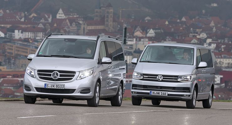 Mercedes V-Klasse, VW Multivan