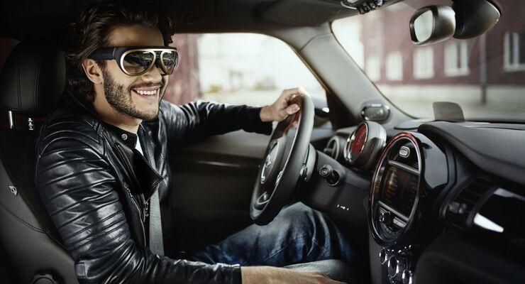 Mini Datenbrille Augmented Reality Fahrer