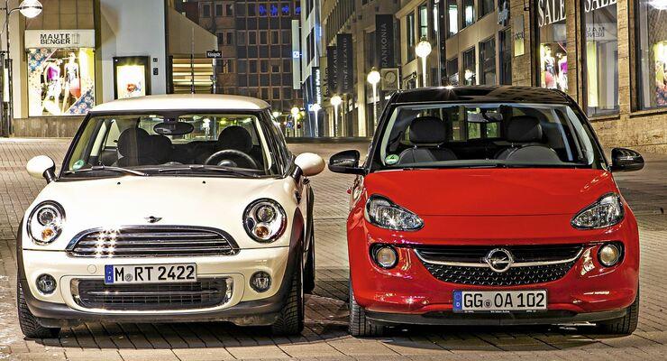 Mini One gegen Opel Adam
