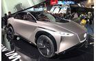 Nissan zeigt die autonome und lenkradlose Sportlimousine IMx erstmals außerhalb Japans.