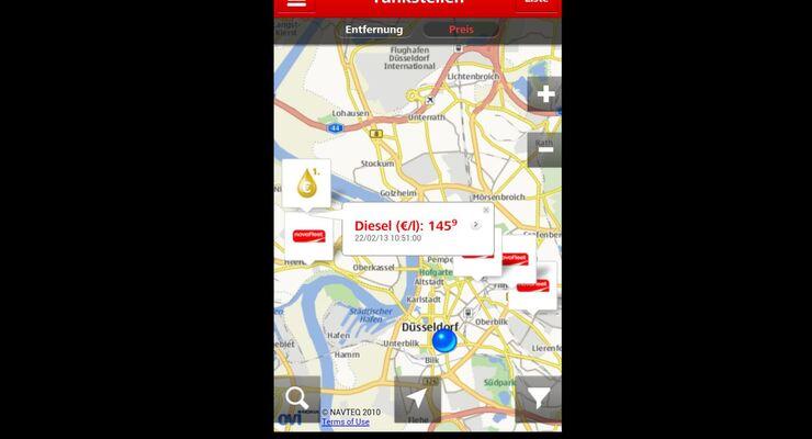 Novofleet, App, Spritpreise, Echtzeit, 2013, März