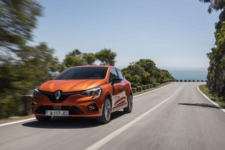 Renault Clio 2020, fahrend, schräg, vorne, links