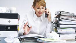 Schreibtisch, Büro, zettelchaos, Unordnung,