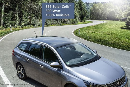 Solarzellen für das Autodach