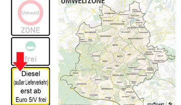 Umweltzone, Euro 5, Diesel, Stuttgart, Fahrverbot